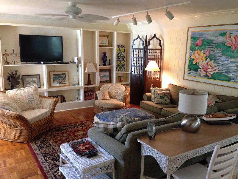 Living room - MY BLUE HEAVEN waterfront/historic Beaufort - Beaufort - rentals