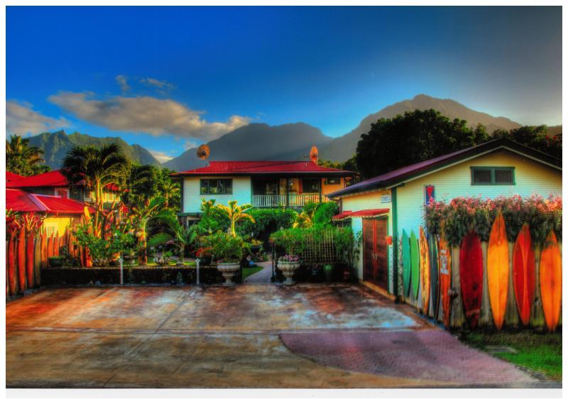 A cloudless sky in Hanalei - Hanalei Surfboard House TVNC-5115 - Hanalei - rentals