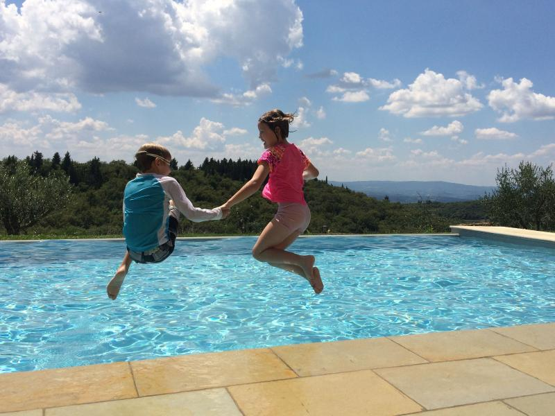 Jumping into the swimmingpool with the view of the Tuscan hills: what else? - Ancient villa in Chianti with pool and wonderview - Castellina In Chianti - rentals