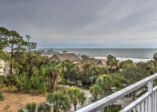 View from Patio - 2407 SeaCrest-Fantastic Ocean View-  A few Summer Weeks still Avail - Hilton Head - rentals