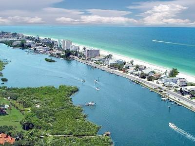 birds eye view of the barrier Island - Real Beach Cottage  (3 bdrm / 2 full baths ) - Indian Shores - rentals