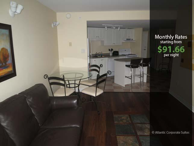 Living Room & Kitchen - Corner Suite on Citadel Hill - Halifax - rentals