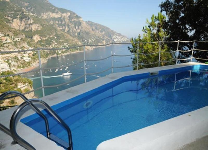 Sea  view from the swimming pool - Villa Cristoforo - Positano - rentals