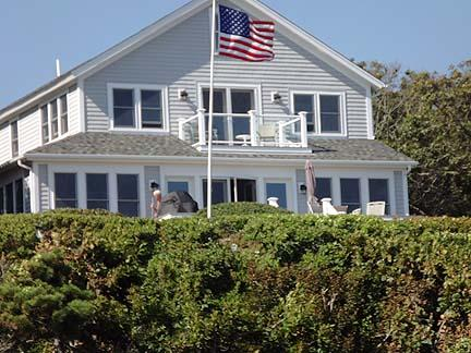 View of House from Beach - Chatham Cape Cod Waterfront Vacation Rental (4820) - Chatham - rentals