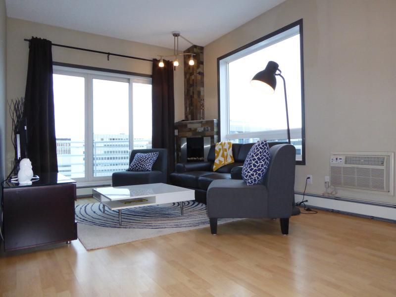 Living room - Sub Penthouse In Downtown Edmonton! - Edmonton - rentals