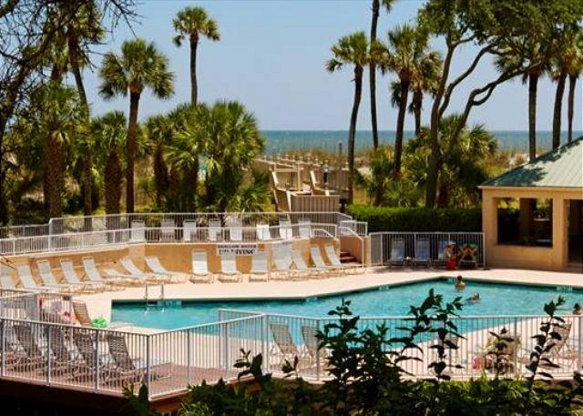 Pool at Barrington - 1BR/1.5BA Oceanfront Villa Offers Exceptionally Exciting Views - Hilton Head - rentals