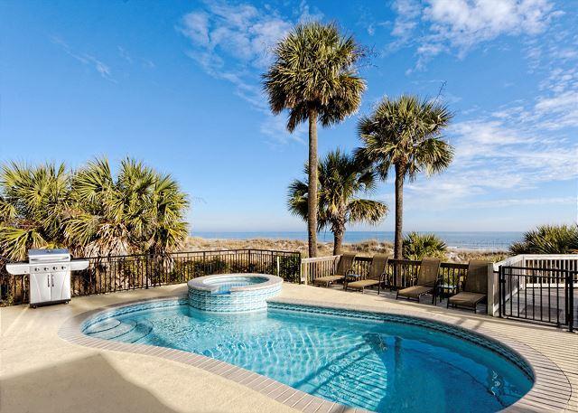 Roadrunner 5 - Roadrunner 5 - Totally Remodeled 7BR/7.5BA Oceanfront Luxury Home w/ Pool/Spa - Hilton Head - rentals