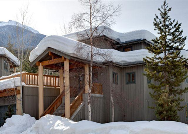 Exterior View of Property in Winter - Taluswood The Ridge #14   Whistler Platinum   Ski-In/Ski-Out, Private Hot Tub - Whistler - rentals