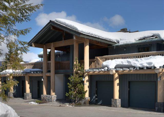 Exterior View of Property in Winter - Taluswood #9 | 2 Bedroom Contemporary Chalet, Fireplace, Close to Ski Access - Whistler - rentals