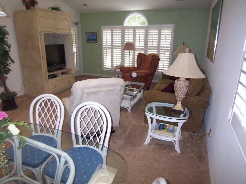 Upstairs living and dining area viewed from dining table. - 3 BR 3BA (3DV2LL), 3 Kings, Sunset Beach, NC - Sunset Beach - rentals