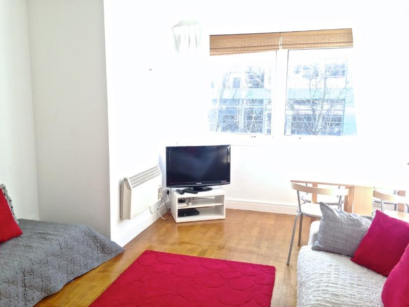 Large comfortable sofa, armchair, flatscreen TV, DVD, table and chairs for 5, wooden floor - Fab Fitzroy Street, W1 2-bed : Unlimited Wifi - London - rentals