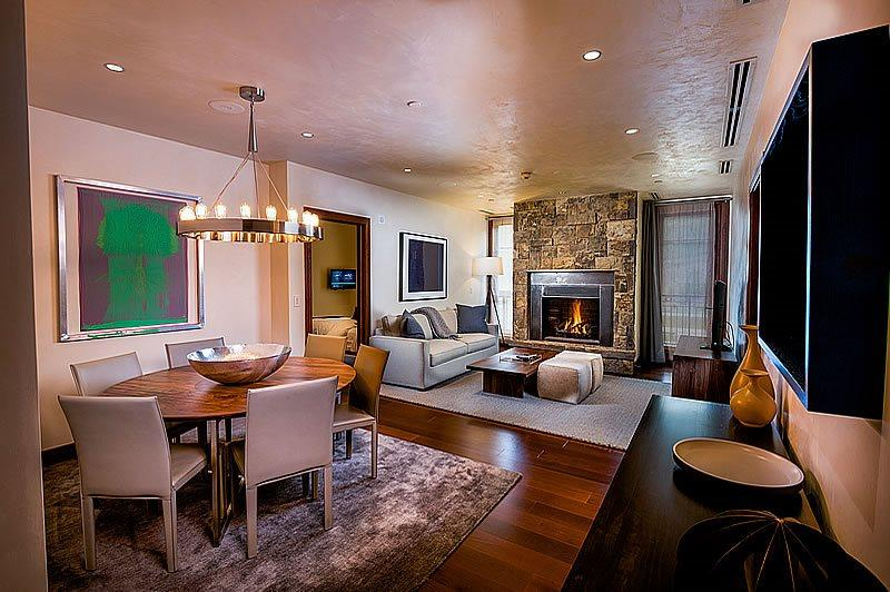 Living Room - Your vacation in Vail is made even better when you stay in the heart of Vail Village inside this luxurious two bedroom vacation rental. - Vail - rentals
