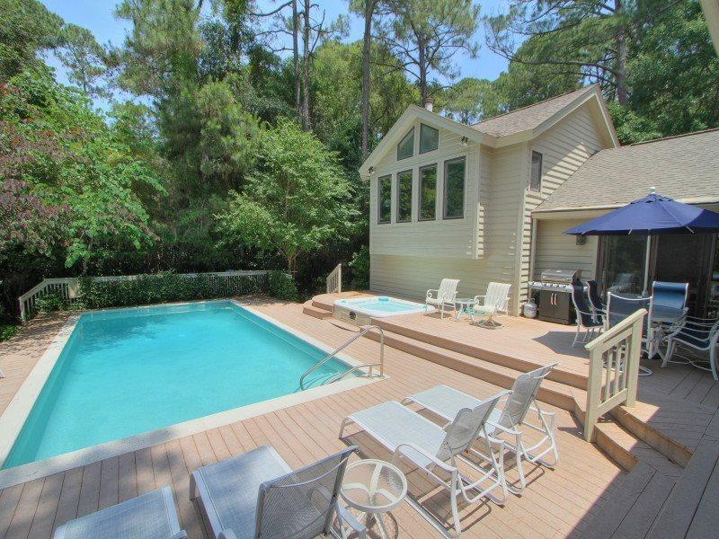 Pool Deck at 14 Grey Widgeon - 14 Grey Widgeon - Sea Pines - rentals
