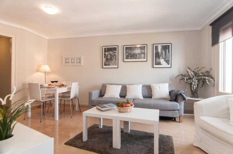 Living room - COZY APARTMENT Sant Antoni Market - Barcelona - rentals