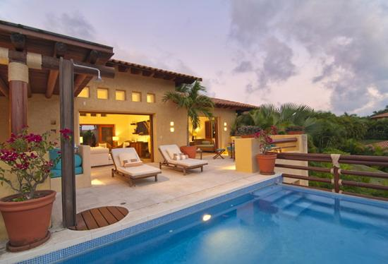Large beautiful terrace with private pool - 4BR Las Palmas Villa–2 Golf Carts+Private Pool - Punta de Mita - rentals