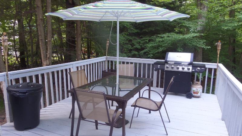 Outside Deck - Beautiful vacation rental home (Poconos) - Tobyhanna - rentals