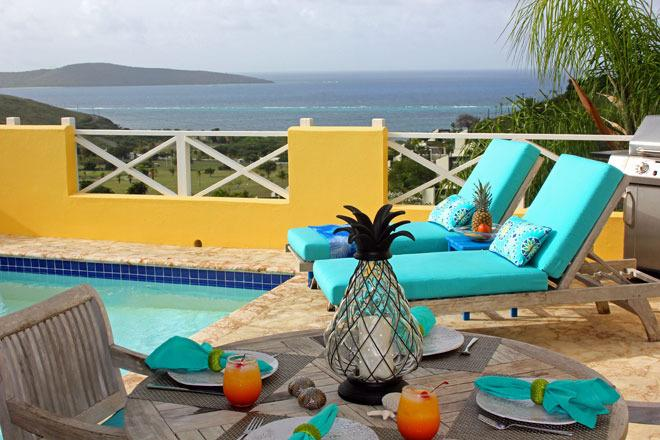 Romantic - Upscale - Private - Fantastic Northshore Buck Island water views - Abandon shoes for flip-flops at romantic Caribe - Christiansted - rentals