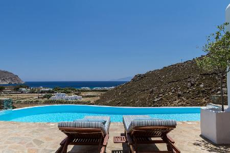 Picturesque Agrari Beach House with pergola & infinity pool, steps to serene beach - Image 1 - Mykonos - rentals