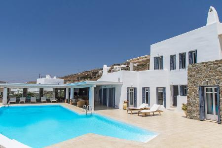 Elegant Aegean Horizon with superb sea views, guest house & secluded infinity pool - Image 1 - Elia Beach - rentals