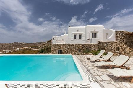 Super Paradise Villa Three with sea & island views, tranquil pool, near beach - Image 1 - Mykonos - rentals