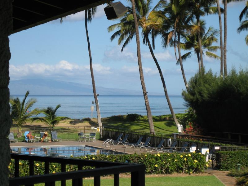 View from Lanai - Beautiful High End Ocean Front Condo in Kihei  Mau - Kihei - rentals