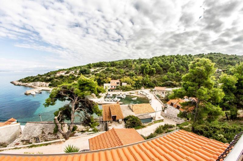 A1(6+2): terrace view - 03604DOK A1(6+2) - Cove Donja Krusica (Donje selo) - Cove Donja Krusica (Donje selo) - rentals