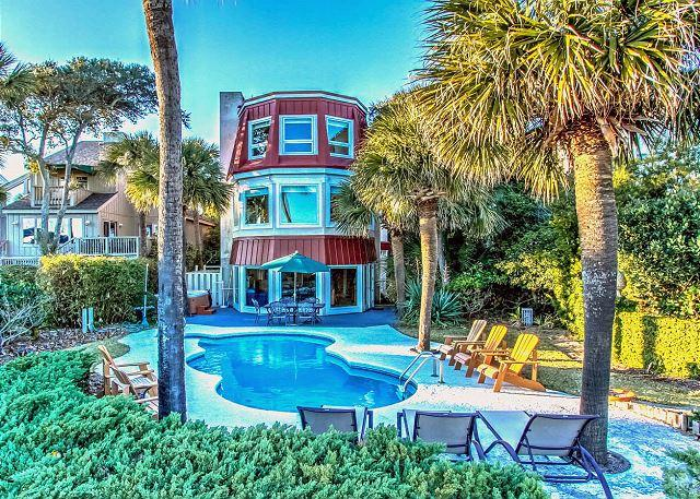 Exterior - 124 N. Forest Beach Ct-Oceanfront, Pool & Hot Tub and Full of Family Fun - Hilton Head - rentals