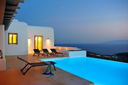 Minerva immersed in the hillside with sea views, peaceful infinity pool & terrace - Image 1 - Mykonos - rentals
