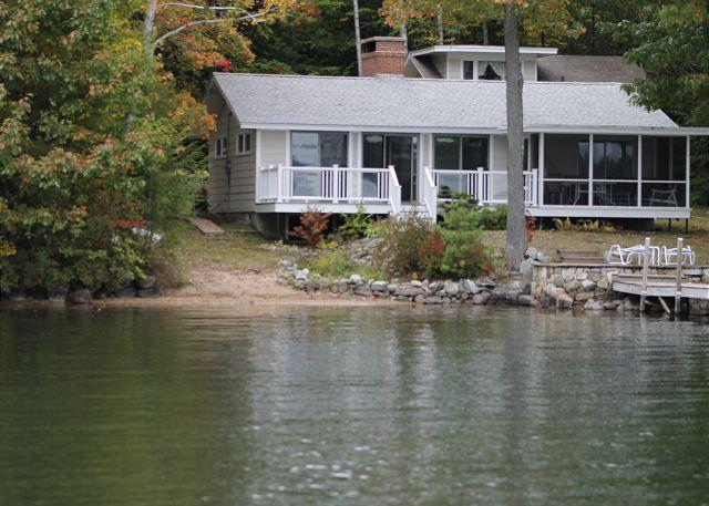 Ext - Sunny Waterfront Cottage with Guest House on Lake Winnipesaukee (SHI37Wf) - Meredith - rentals