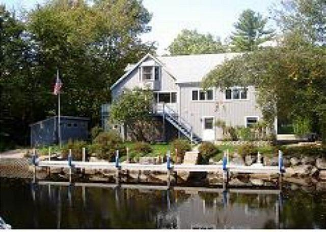 view of house from Lake - Fantastic Balmoral Waterfront Home on the Canal Sleeps 8 (CAM83Wflr) - Moultonborough - rentals