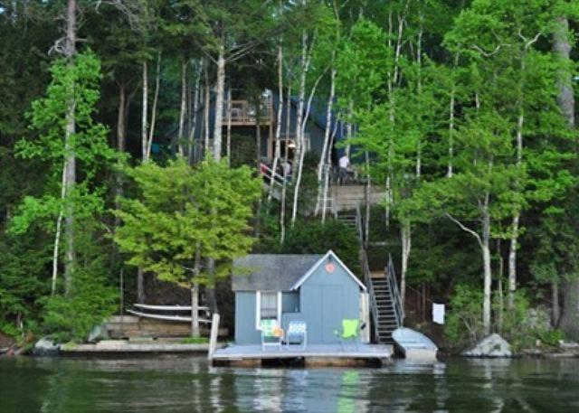 View from Water - Two Bedroom Cottage Sleeps 8 on Lake Winnipesaukee (FER25W) - Alton - rentals