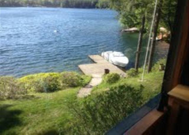 view of dock and lake area - Breathtaking Waterfront Vacation Rental on Lake Winnipesaukee (FOS9W) - Meredith - rentals