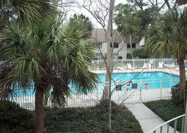 pool view - Courtside 27 - Forest Beach Townhouse - Hilton Head - rentals