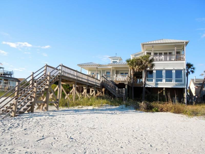 Exterior from Beach - Charisma by the Sea - formerly Robinini - Folly Beach, SC - 5 Beds BATHS: 5 Full 1 Half - Folly Beach - rentals