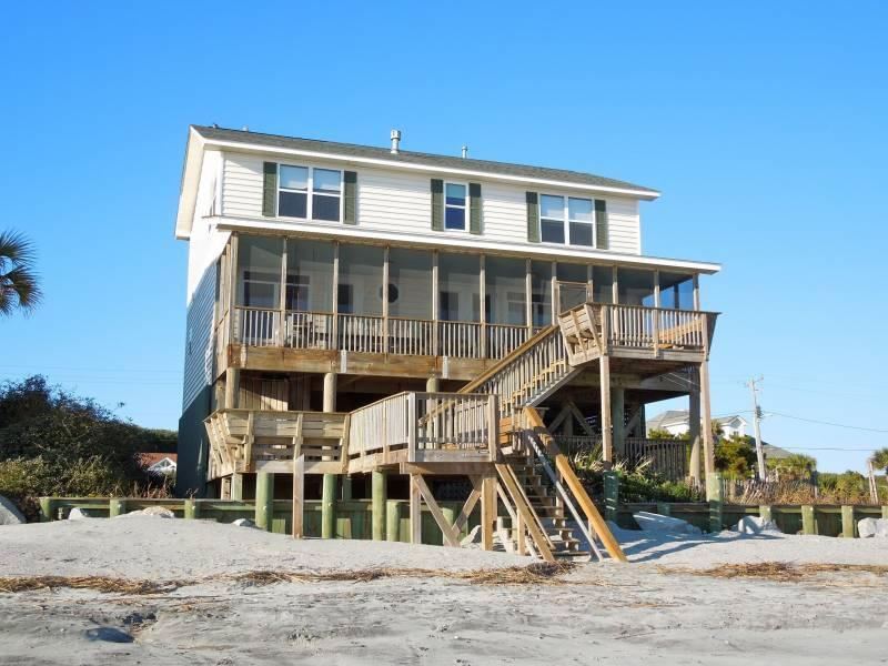 Exterior - Folly 'B' Golly - Folly Beach, SC - 5 Beds BATHS: 4 Full 1 Half - Folly Beach - rentals