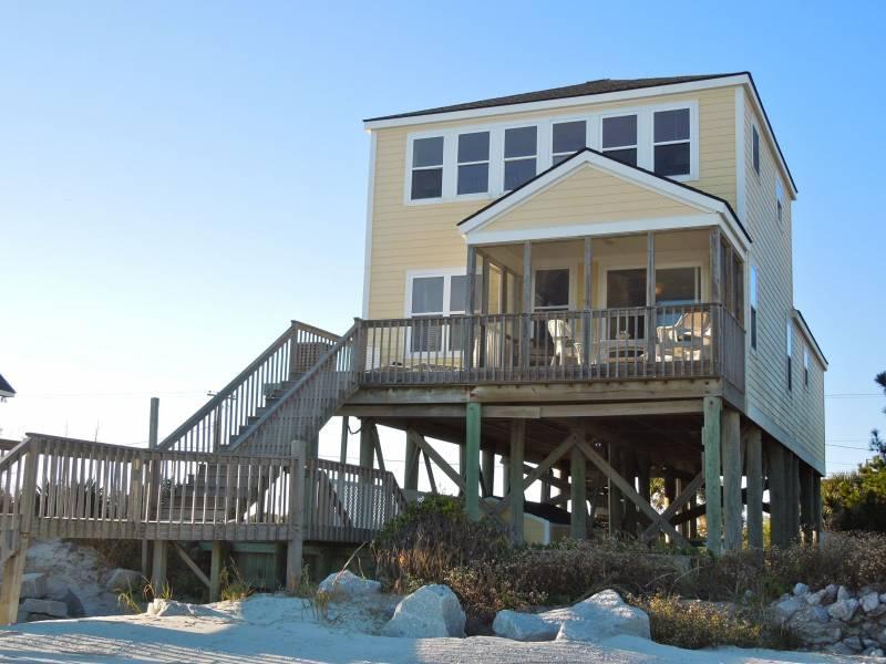 Oceanside Exterior - Next Stop Morocco - Folly Beach, SC - 3 Beds BATHS: 3 Full - Folly Beach - rentals