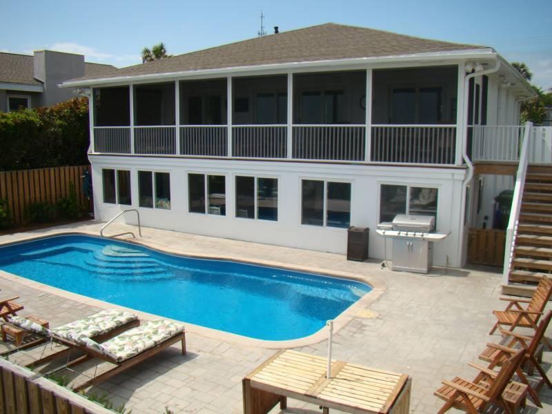 Oceanfront Pool - TranquiliSea - Folly Beach, SC - 6 Beds BATHS: 6 Full - Folly Beach - rentals
