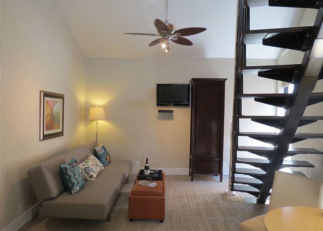 Lovely Living Room in Dupont Place Loft Studio 9 - DuPont Circle-Adams Morgan Loft Studio. Kitchenette, Parking, Metro 3 blks - Washington DC - rentals