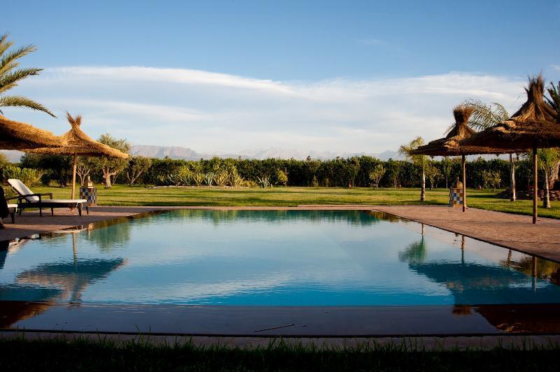 vue piscine - Villa andalouse de luxe marrakech - Marrakech - rentals