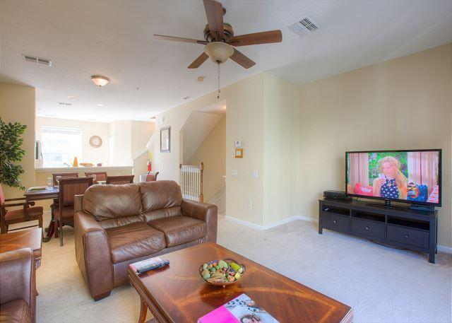 Living Room - Newly Furnished Vista Cay 3BD/3.5BA TownHome - Orlando - rentals