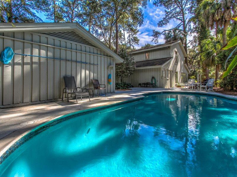 Pool Area at 28 Canvasback in Sea Pines - 28 Canvasback - Sea Pines - rentals