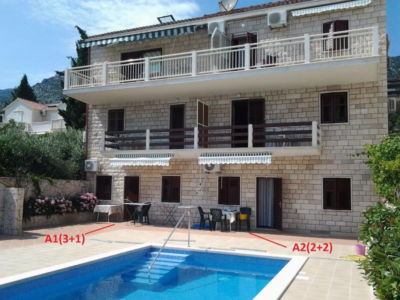 A2(2+2): common terrace - 6075  A2(2+2) - Bol - Bol - rentals