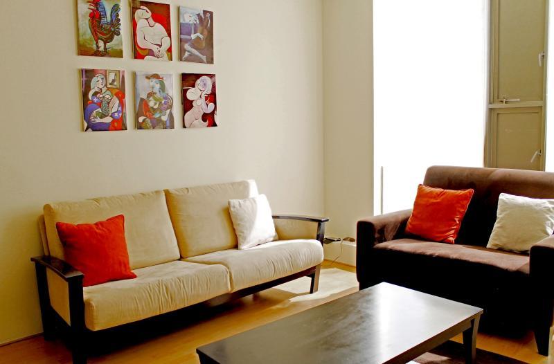 Living Room - City Center Near Reforma Pool Gym Airport Pick-up - Mexico City - rentals
