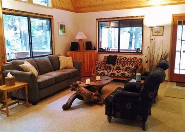 Living Room - Hale Mauna (Mountain Home) located in the beautiful Big Trees Village area - Dorrington - rentals