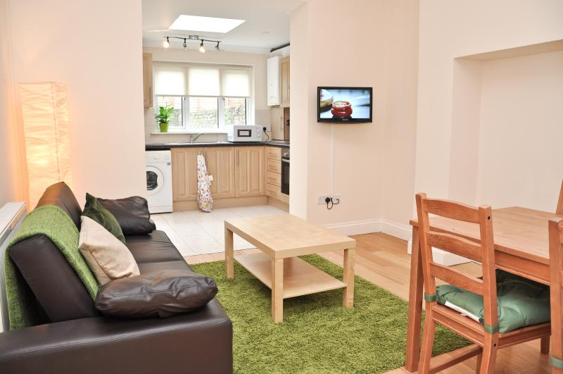 kitchen/living room - Cosy 2 bed serviced flat across Emirates stadium - London - rentals