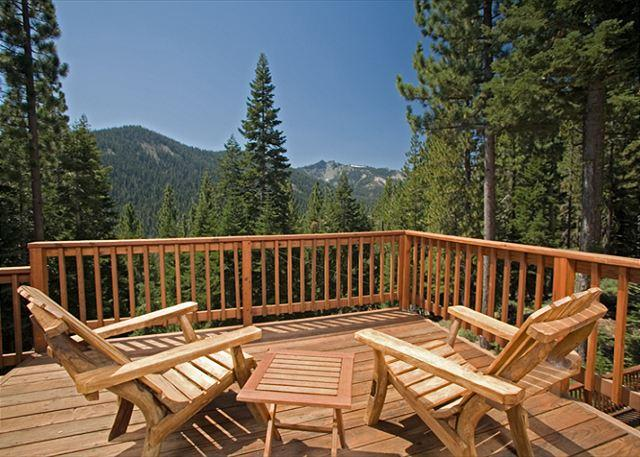Back Deck - Twin Peaks - Stunning Views at this Large 5 BR Home w/ Hot Tub - sleeps 14! - Tahoe City - rentals
