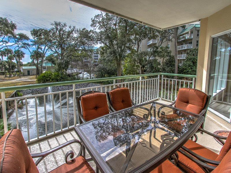 Balcony at 103 Windsor Place in Palmetto Dunes - 103 Windsor Place - Palmetto Dunes - rentals