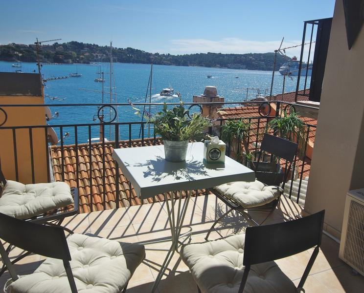 Large Terrace with amazing sea view - Artistes Tresor Terrace over the Mediterranean - Villefranche-sur-Mer - rentals