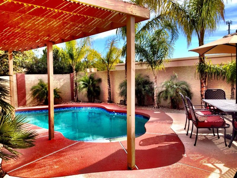 Beautifully remodeled backyard Jan. 2015: premium pebble sheen surface pool & painted pool deck. - Mint Phoenix Home: Senior Friendly. Doggies OK! - Phoenix - rentals