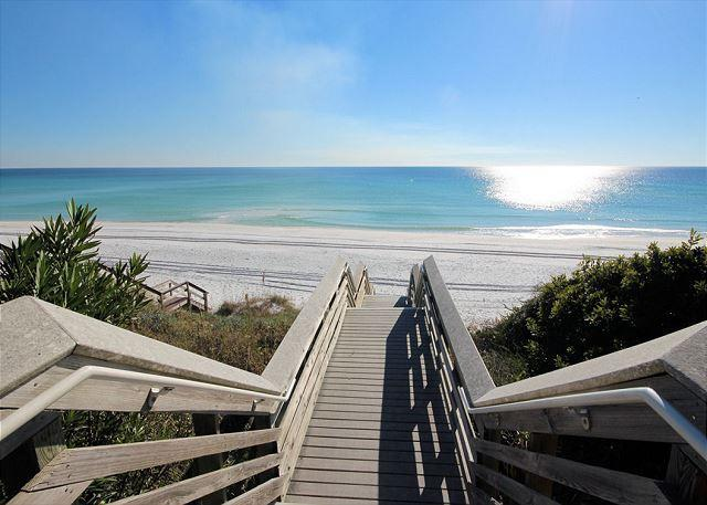 Beach Access point 60 steps from front door of Sugaree - Sugaree - guest cottage steps to the beach - Seagrove Beach - rentals